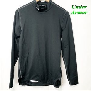 Under Armour Black Cold Gear Fitted Mock SM